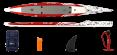 AIRSKIFF 17' (517), Rucksack, Reparatur-Kit, Finne, Pumpe